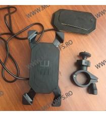 Suport telefon moto Gps cu incarcatoare rapide USB ficare pe ghidon STGPS8597 STGPS8597  Suport telefon & GPS 85,00RON 85,00...