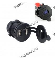 IZTOSS USB Dublu 4.2A , Si Voltmetru Moto LED Albastru CodVM8203 vm8203  USB Voltmetru Moto  100,00RON 100,00RON 84,03RON ...