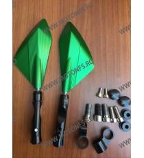 Set oglinzi retrovizoare Universal CNC Verde Pentru Motocicleta Naked Streetfighter Sport 5BZ8Q7JA 5BZ8Q7JA  Oglinzi CNC 160,...