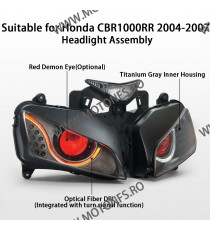 KT Headlight Assembly for Honda CBR1000RR 2004-2007 Angel Eye HID Projector Red   Faruri Custom 1,360.00 1,360.00 1,142.86 1,...
