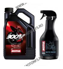 MOTUL OFERTA - 300V 10W40 - 4L + M5-505 (E2 MOTO WASH - 1L) M4-121-E2  MOTUL 309,00RON 309,00RON 259,66RON 259,66RON