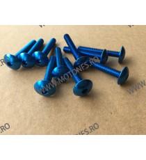 M6 x 40mm Set 10 Suruburi Albastru , Cod sr-271 SR-271  Suruburi rapide carena 30,00RON 30,00RON 25,21RON 25,21RON