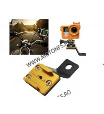 Suport Metalic De Prindere Camera Pe Motocicleta / Bicicleta Auriu Cod AMDP7086-1 amdp7086-1  Accesorii Camere Sport 49,00RO...