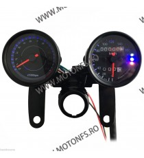 Bord electronic moto LED LCD kilometraj digital universal Cafe Racer motocicleta BML733 BML733  Kilometraj Universal 149,00l...