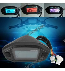 Bord - vitezometru - km kilometraj electronic - universal multifuntional 7 Culori KDUN10290 KDUN10290  Kilometraj Universal 1...