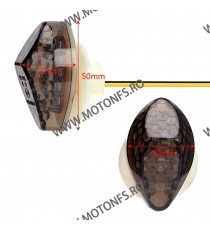Set HONDA Semnale LED Pentru Carena Omologat ( E11 ) Fumuriu SLC303-006a 303-006a  Semnale Led Pentru Carena 40,00lei 40,00...