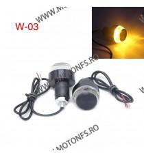 Semnale semnalizatoare moto LED lumini capat ghidon mansoane CodW03 CodW03  Capete ghidon Universale Cap888 58,00RON 58,00R...