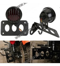 Suport numar inmatriculare moto lateral Stop Lateral Frana / Lampa /Universal Cafe Racer Chooper Bobber SL-001 SL-001  Stop U...