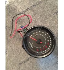 Ceas indicator Turometru Bord electronic moto LED LCD kilometraj (Techometer) digital universal Cafe Racer motocicleta L8W0 L...