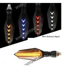 Set Semnalizari moto semnal ascendent LED flexibile, Semnalizari motociclete Led, semnalizari led dinamic 55EL 55EL  Semnal D...