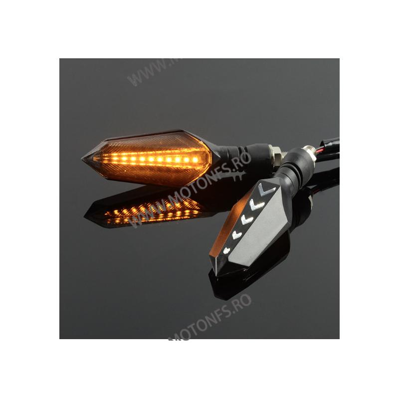 Set Semnalizari moto semnal ascendent LED flexibile, Semnalizari motociclete Led, semnalizari led dinamic J5ZD J5ZD  Semnal D...