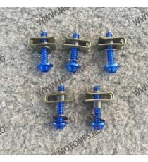 Suruburi carena moto M5 x 25mm Albastru  2XHOX 2XHOX  Suruburi carena universale 3,00RON 3,00RON 2,52RON 2,52RON