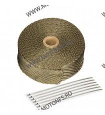 Banda termoizolanta din titanium pt evacuare ( toba) 50 mm x 2 mm x 5 M XRL-241-2 XRL-241-2  Protectie Toba 50,00RON 50,00R...