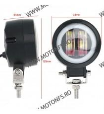 Proiector LED Angel Eye Moto, Auo, ATV de 3 Inch putere 20W CVS99 CVS99  Proiectoare, Lampi & Leduri 95,00RON 95,00RON 79,8...