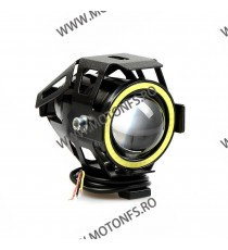 125W 12V Motocicleta faruri 3000LM moto reflectorul U7 LED-uri de conducere de ceață Spot Head Light Lampă decorative D1101  ...