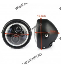 Far Universal LED Angel Eye cafe racer chopper, bobber XRL-4510 XRL-4510  Faruri Universale  160,00 RON 160,00 RON 134,45 RON...