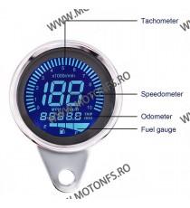 Bord - vitezometru - km kilometraj electronic - universal multifuntional 7 Culori KDUN10290 KDUN10290  kilometraj universal  ...