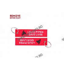 Loud Pipes Save Lives Breloc Moto Brodat Pe Ambele Fete  LN4IX LN4IX  Breloc Chei 10,00RON 10,00RON 8,40RON 8,40RON