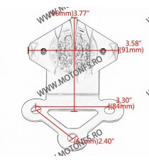 Stop cu leduri si Suport Numar Stop Frana / Lampa Spate  Moto Universal Cafe Racer Cromat Chooper Bobber IO8ML IO8ML  Stop Un...