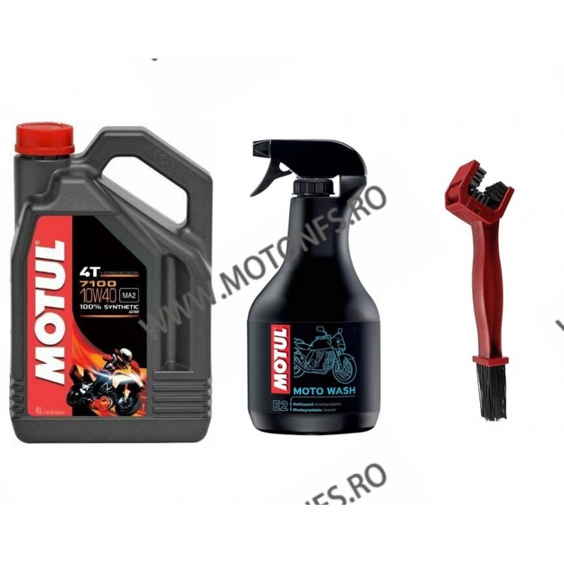 MOTUL 7100 10W40 SEMI SINTETIC 4L + MOTO WASH - 1000ML +PERIE CURATAT LANTUL W3MDH W3MDH  Ulei Motor 245,00RON 245,00RON 20...