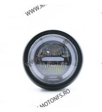 Far LED Universal Moto 6.8 inch Cu Angel Eye cafe racer chopper, bobber W5STV W5STV  Faruri Universale  269,00lei 269,00lei...