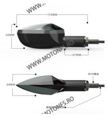Set Semnale LED universale Cu Lumina Pozitie / Stop M10 522XM 522XM  Semnale Universal  40,00RON 40,00RON 33,61RON 33,61RON