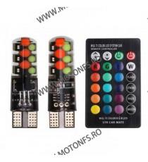Set 2 becuri LED 12v auto Moto RGB, cu telecomanda BMP2P BMP2P  Lumini Decorative  39,00RON 39,00RON 32,77RON 32,77RON