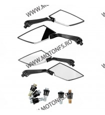 Set oglinzi racing Universal Prindere suruburi Negru 8mm / 10mm Cod SF036CARBON SF036CARBON  Oglinzi universale 99,00RON 99,...