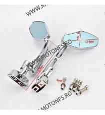 Set oglinzi racing Universal Prindere 2 suruburi Argintiu Chrom Cod SF-062S SF-062s  Oglinzi universale 140,00RON 140,00RON...