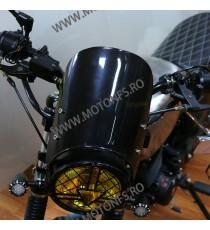 Parbriza Tansparent Universal Moto Naked Cafe Racer Cromat Chooper Bobber Yamaha Kawasaki Honda Suzuki 1H4KU 1H4KU  Parbriz u...
