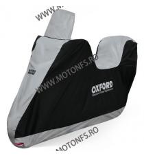 [dimensiuni: 203x83x184] OXFORD - husa moto / scooter AQUATEX - pentru parbriz inalt si topcase, small (S) OX-CV217  Huse mot...