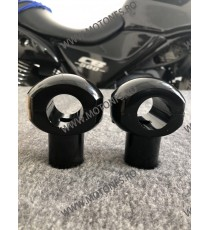 25 mm Inaltatore / Suport Ghidon 1 Inch Handlebar Riser Clamp Compatible With Harley Kawasaki Suzuki Yamaha Honda 030-017-25m...