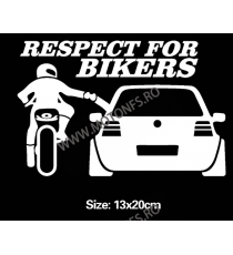 13cmx20cm Respect For Bikers  Autocolant / Sticker Moto / Auto Reflectorizante Stikere Carena Moto Q9Z3H  autocolante Carena ...