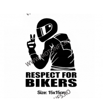 15cm x 15cm Respect For Bikers Autocolant / Sticker Moto / Auto Reflectorizante Stikere Carena Moto JHSD0  autocolante Carena...