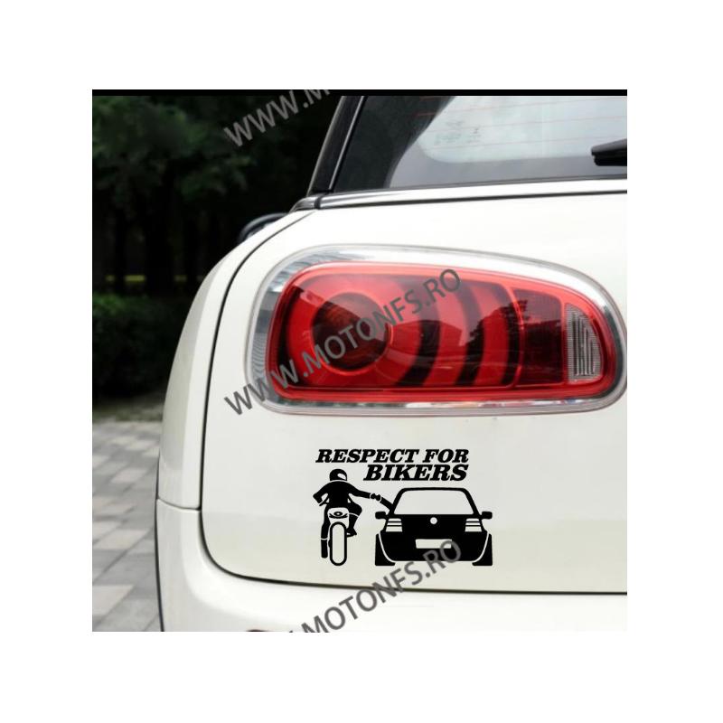 13cm x 20cm Respect For Bikers  Autocolant / Sticker Moto / Auto Reflectorizante Stikere Carena Moto DP0KJ  autocolante Caren...