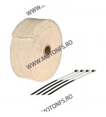 SIFAM - BANDA TERMICA (PT. EVACUARI), LUNGIME - 10m, LATIME 50mm, GROSIME 1,5mm - MARO (+4 COLIERE) SD-BTE100C  Protectie Tob...