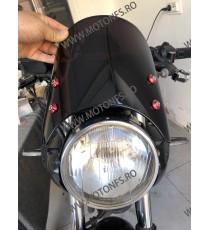 Parbriza Fumuriu Universal Moto Naked Cafe Racer Cromat Chooper Bobber Yamaha Kawasaki Honda Suzuki 53V28 53V28  Parbriz univ...