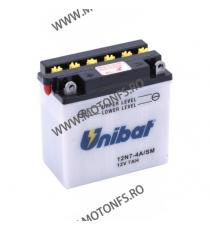 UNIBAT - Acumulator cu intretinere 12N7-4A-SM (Yuasa: 12N7-4A) U295-220-SM-1 UNIBAT Baterii UNIBAT 175,00lei 158,00lei 147,...