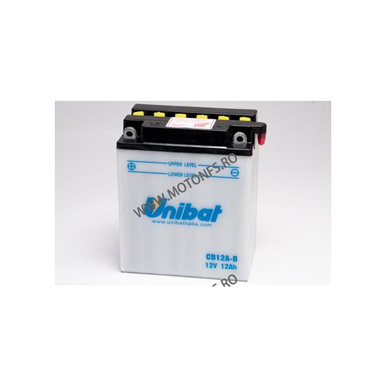 UNIBAT - Acumulator cu intretinere CB12A-B-SM (Yuasa: YB12A-B) U295-244-SM UNIBAT Baterii UNIBAT 270,00lei 245,00lei 226,89...