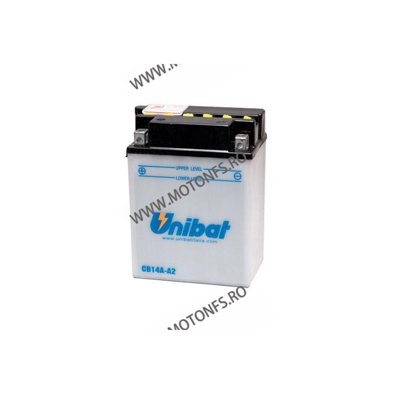 UNIBAT - Acumulator cu intretinere CB14A-A2-SM (Yuasa: YB14A-A2) U295-266-SM UNIBAT Baterii UNIBAT 340,00lei 307,00lei 285,...
