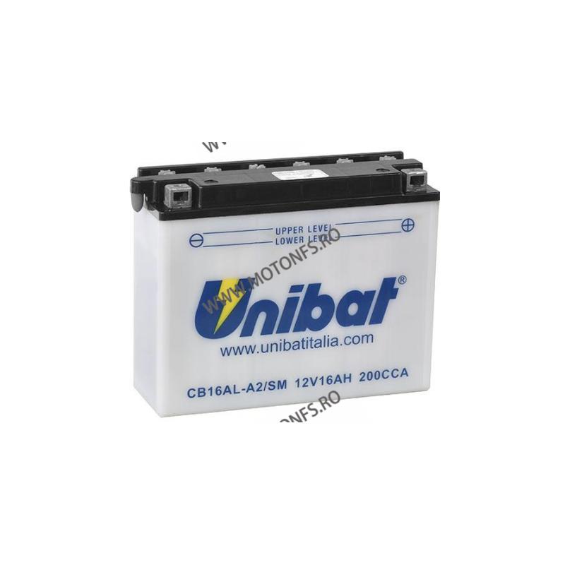 UNIBAT - Acumulator cu intretinere CB16AL-A2-SM (Yuasa: YB16AL-A2) U295-284-SM UNIBAT Baterii UNIBAT 355,00lei 319,00lei 29...