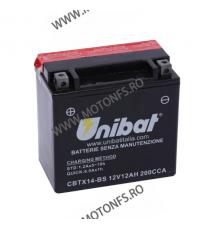 UNIBAT - Acumulator fara intretinere CBTX14-BS (Yuasa: YTX14-BS) U295-346-BS UNIBAT Baterii UNIBAT 285,00lei 257,00lei 239,...