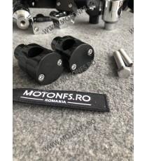 22 mm Inaltatore / Suport Ghidon Handlebar Riser Clamp Compatible With Harley Kawasaki Suzuki Yamaha Honda 030-07-22mmNegru  ...