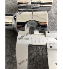 22 mm Inaltatore / Suport Ghidon Handlebar Riser Clamp Compatible With Harley Kawasaki Suzuki Yamaha Honda 030-07-22mmChrome ...