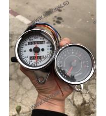 Bord electronic moto kilometraj Si Ceas indicator Turometrudigital universal Cafe Racer motocicleta B715+B717 B715+B717  Kilo...
