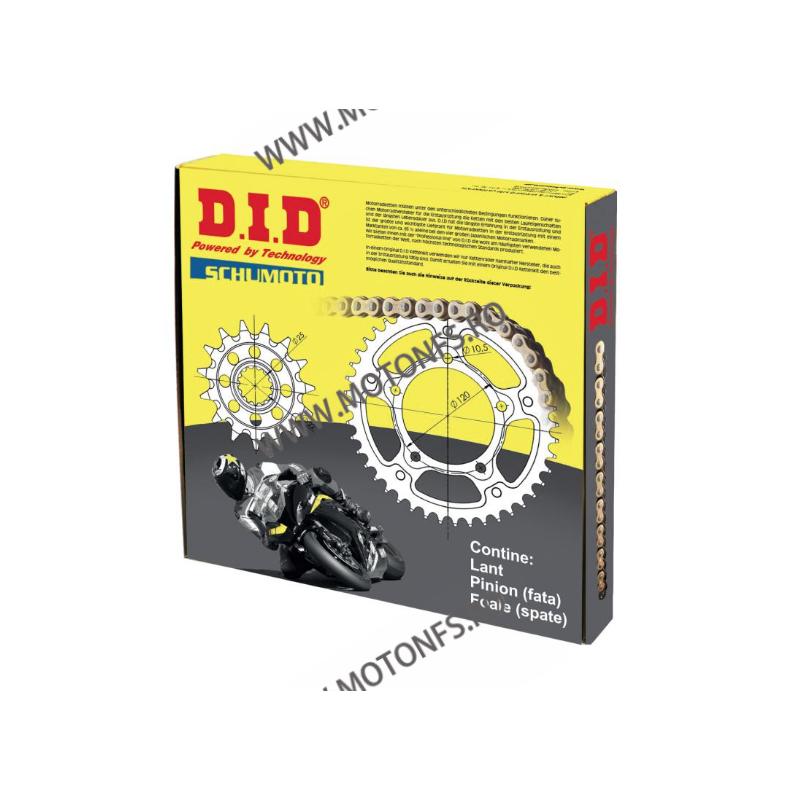 DID - kit lant Ducati 1200Diavel 2011-, pinioane 15/43, lant 525ZVM-X-118 Gold X-Ring 125-159-1 DID RACING CHAIN Kit Ducati 1...