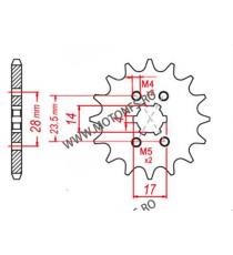 EMGO - Pinion (fata) 13013, 11 dinti - Mopedmotor Arilia 106-224-11 EMGO Emgo Pinion 39,00lei 39,00lei 32,77lei 32,77lei