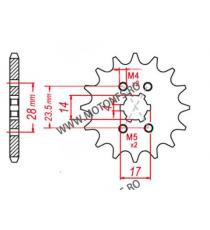 EMGO - Pinion (fata) 13013, 13 dinti - Mopedmotor Piaggio/Derbi 2000- Suzuki 106-224-14 EMGO Emgo Pinion 15,00lei 15,00lei ...