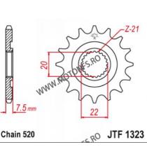EMGO - Pinion (fata) JTF1323, 13 dinti - CR125 2004/CRF250 2004 101-411-13 EMGO Emgo Pinion 49,00lei 49,00lei 41,18lei 41,...