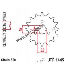 EMGO - Pinion (fata) JTF1445, 12 dinti - KX125 1994- 104-425-12 EMGO Emgo Pinion 49,00lei 49,00lei 41,18lei 41,18lei